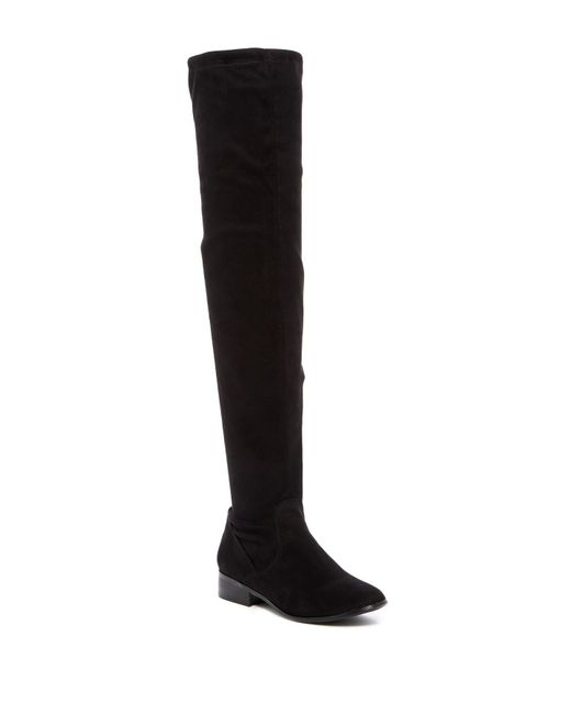 Report   Black Sanjay Faux Suede Thigh-high Boot   Lyst