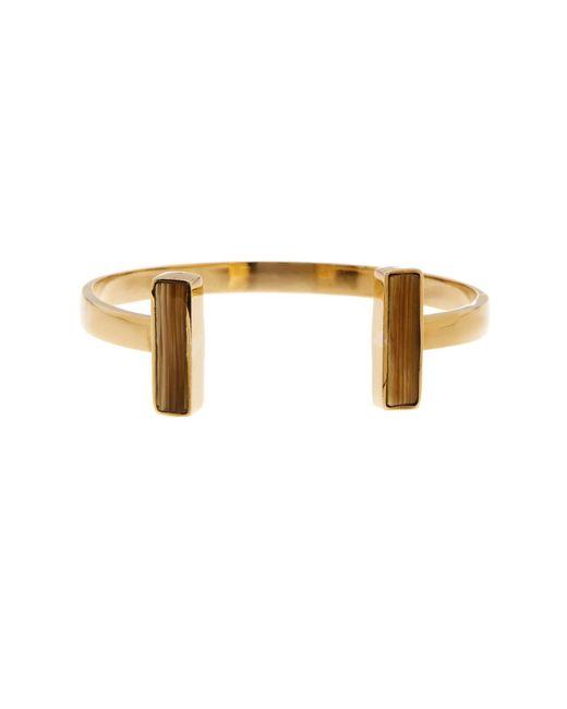 Soko | Double Natural Horn Inlay Bar Cuff Bracelet | Lyst