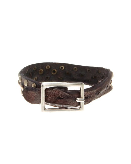Tommy Bahama | Brown Triple Rivet Leather Bracelet | Lyst