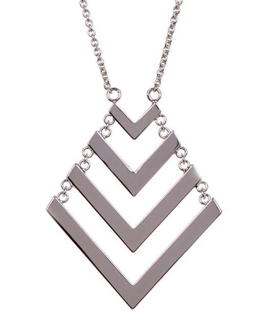 Trina Turk | Metallic Chain Drop Chevron Pendant Necklace | Lyst