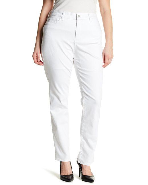 NYDJ | Multicolor Marilyn Straight Leg Jean (plus Size) | Lyst