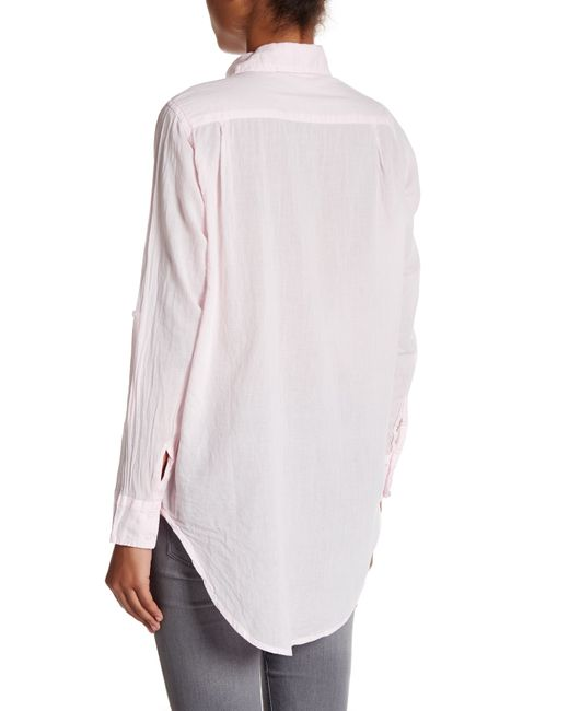 Michael stars oversize shirt in pink lyst for Michael stars t shirts on sale