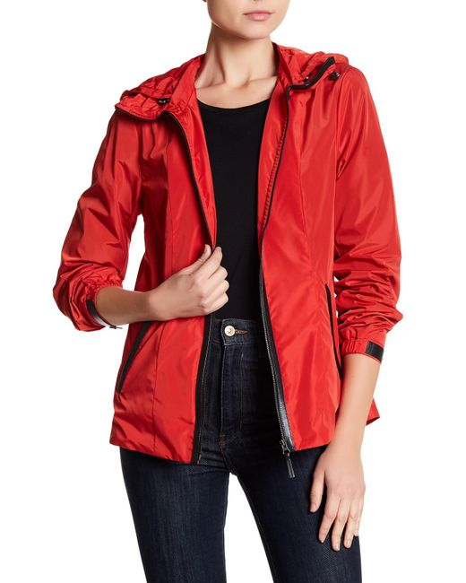 Mackage | Red Stand-up Collar Rain Coat | Lyst