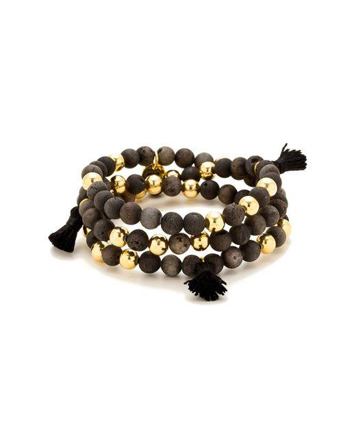 Gorjana - Metallic Hannah Drusy Tassel Wrap Bracelet - Lyst