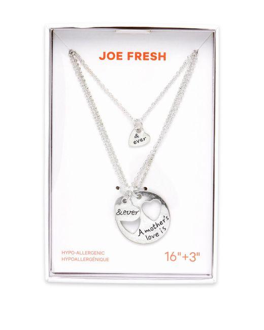 Joe Fresh | Metallic Best Friends Pendant Necklace | Lyst