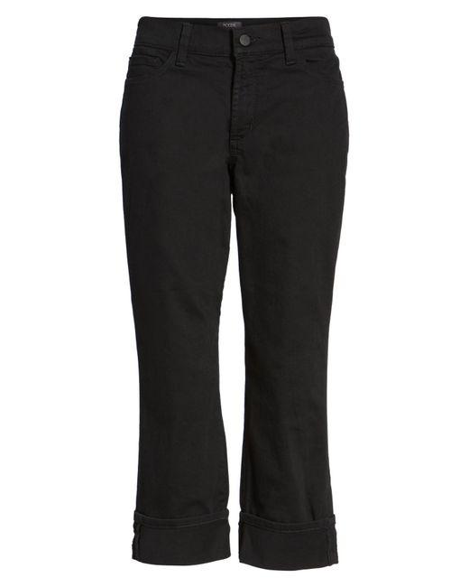 NYDJ | Black Dayla Colored Wide Cuff Capri Jeans | Lyst
