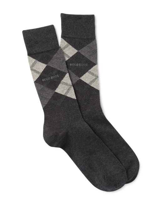 BOSS Blue Boss Men's Argyle Cotton Socks for men