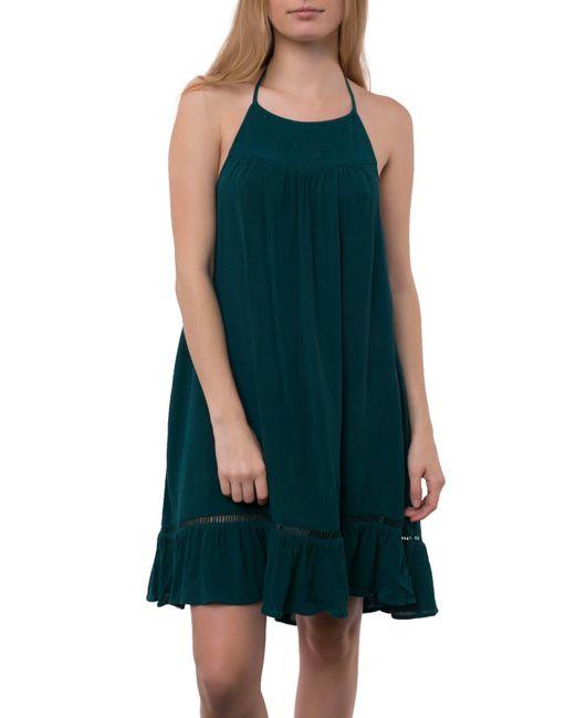 O'neill Sportswear - Green Jenelle Halter Dress - Lyst