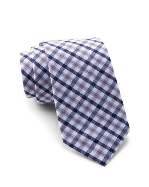 Original Penguin - Orange Malisse Plaid Tie for Men - Lyst