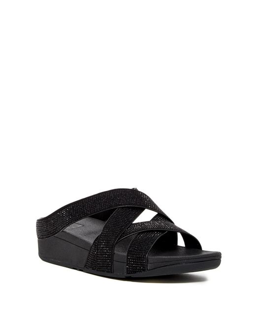 Fitflop - Black Skinny Rokkit Slide Sandal - Lyst