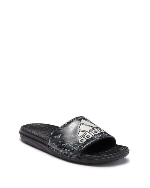 d14977afc1c34f Adidas - Black Voloomix Slide Sandal for Men - Lyst ...