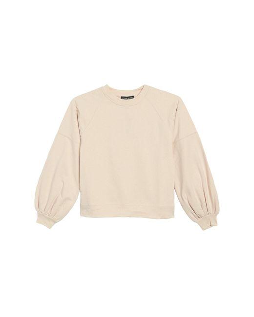 Catherine Malandrino Pink Balloon Sleeve Pullover Sweatshirt