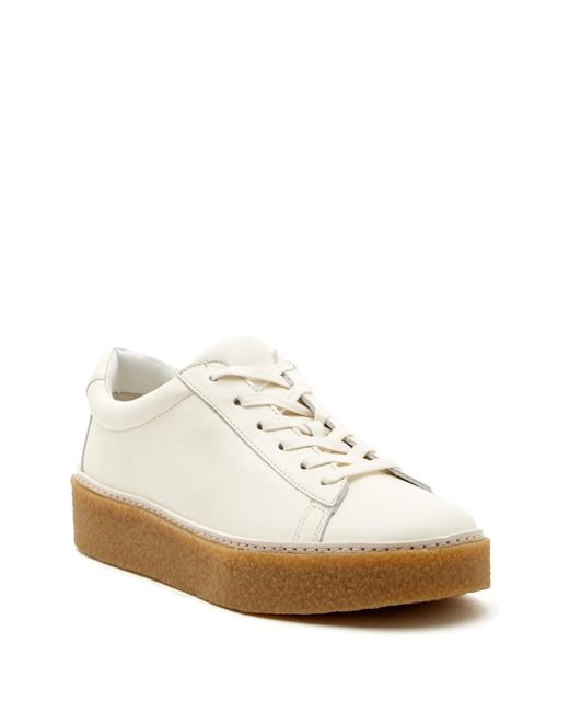Vince - White Neela Leather Sneaker - Lyst