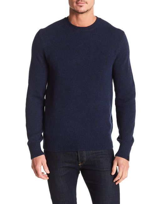 Rag & Bone - Blue Victor Wool Blend Sweater for Men - Lyst