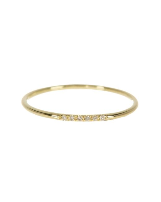 Meira T - Metallic 14k Yellow Gold Diamond Accented Band Ring - 0.02 Ctw - Lyst