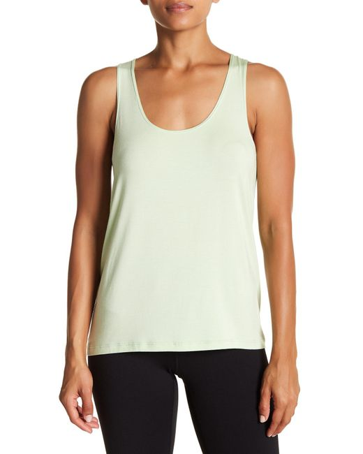 Nux - Green Exhale Tank Top - Lyst