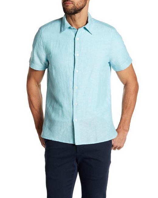 Perry Ellis - Blue Solid Linen Blend Shirt for Men - Lyst