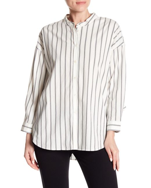 Joie - Multicolor Poin Ruffled Striped Button Down Shirt - Lyst
