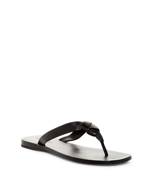 Frye | Black Perry Knot Thong Sandal | Lyst