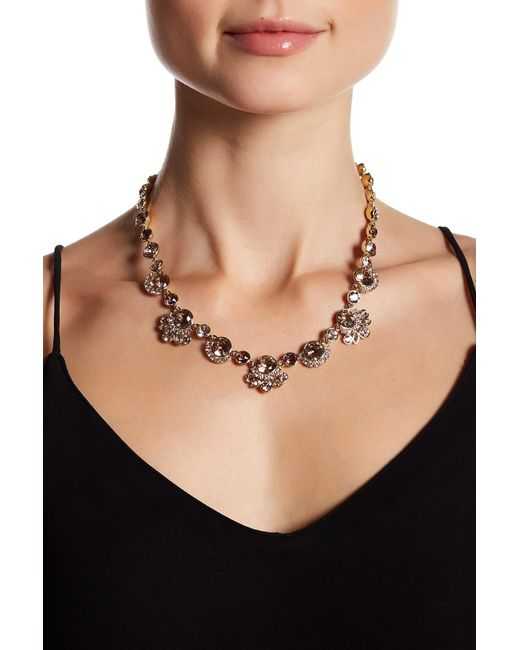 Givenchy | Metallic Crystal Accented Collar Necklace | Lyst
