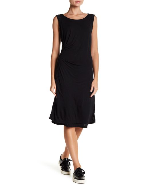 B Collection By Bobeau - Black Julia Ruched Side Knit Dress - Lyst