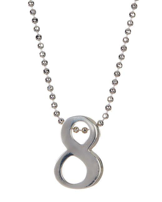 Alex Woo | Metallic Sterling Silver Little Big '8' Pendant Necklace | Lyst