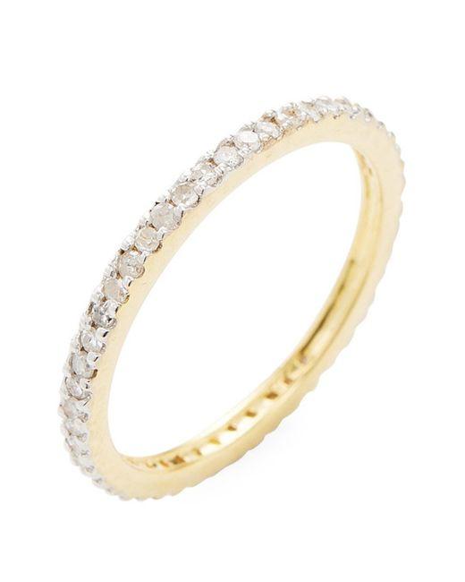 Adornia 14k Yellow Gold Pave White Diamond Ring - 0.30 Ctw