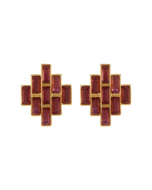 Carolee | Multicolor Baguette Stud Earrings | Lyst