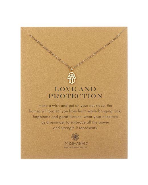 Dogeared - Metallic 14k Yellow Gold Vermeil 'love & Protection' Cutout Hamsa Hand Pendant Necklace - Lyst