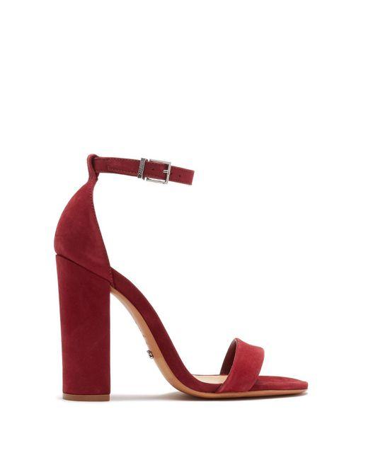 dccea7bd618e ... Schutz - Red Enida Ankle Strap Sandal - Lyst ...