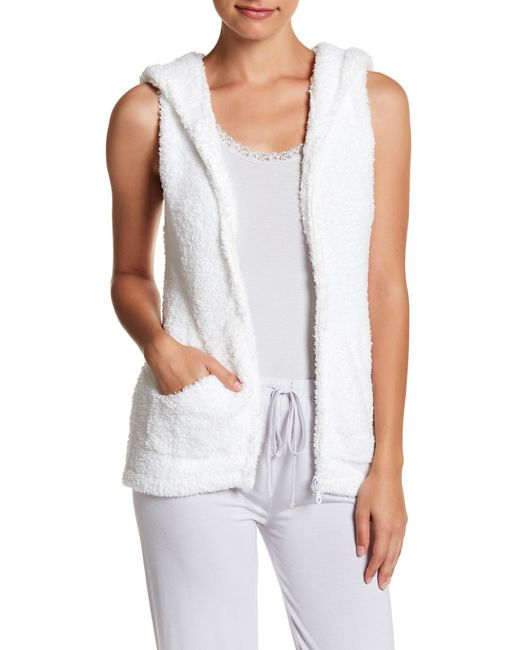 Barefoot Dreams - White Cozy Chic Sleeveless Hoodie - Lyst