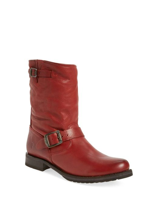 Frye | Red Veronica Shortie Slouchy Boot | Lyst