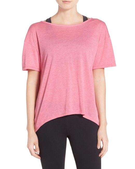 Alternative Apparel - Pink 'pony' Open Back Jersey Tee - Lyst