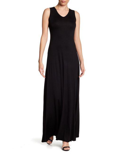 Go Couture - Black V-neck Maxi Dress - Lyst