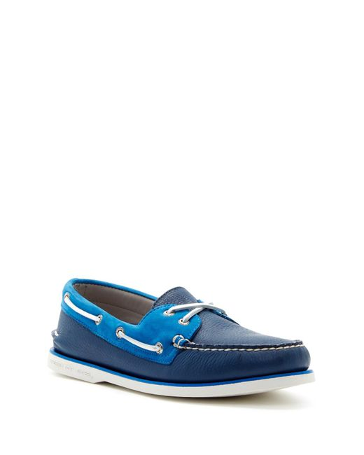 Sperry Top-Sider | Blue Gold Authentic Original 2 Eye Boat Shoe for Men | Lyst