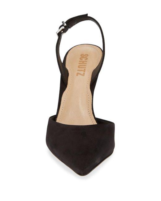 6503771cf5bff Black Women's Maysha Slingback Pointed - Toe Pumps