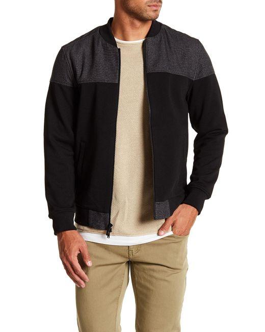 Vince Camuto - Black Mesh Pique Knit Bomber Jacket for Men - Lyst