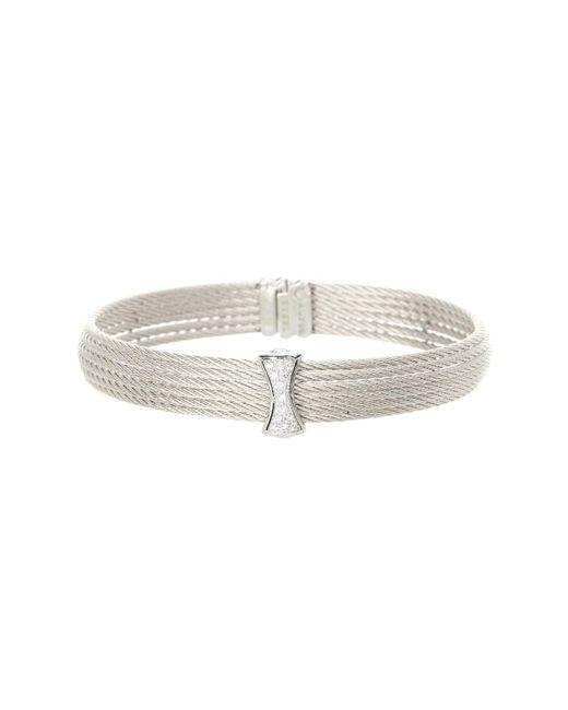 Alor | Gray 18k White Gold Diamond Detail Multi Strand Bracelet - 0.12 Ctw | Lyst