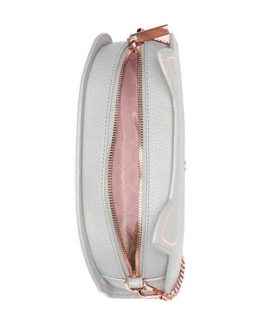 012860d69396 ... Ted Baker - Gray Kirstie Cat Leather Crossbody Bag - Lyst