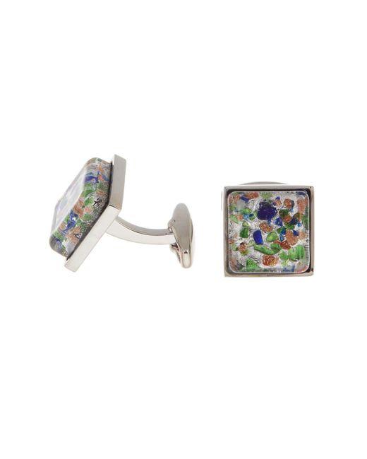 Hart Schaffner Marx Multicolored Glass Cuff Links for men