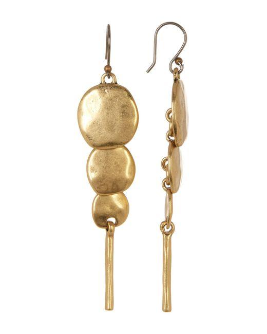 Lucky Brand | Metallic Draped Circular Pendant Earrings | Lyst
