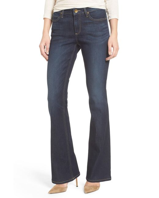 Kut From The Kloth - Blue Natalie Curvy Fit Bootleg Jeans - Lyst