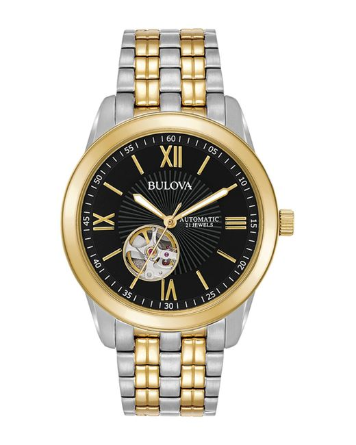 Bulova Metallic Men's Mechanical Automatic Bracelet Watch, 42mm for men