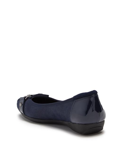 fe9c1e8a54f ... Anne Klein - Blue Akuther Slip-on Flat - Lyst ...