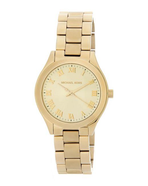 MICHAEL Michael Kors - Metallic Women's Slim Runway Bracelet Watch, 33mm - Lyst
