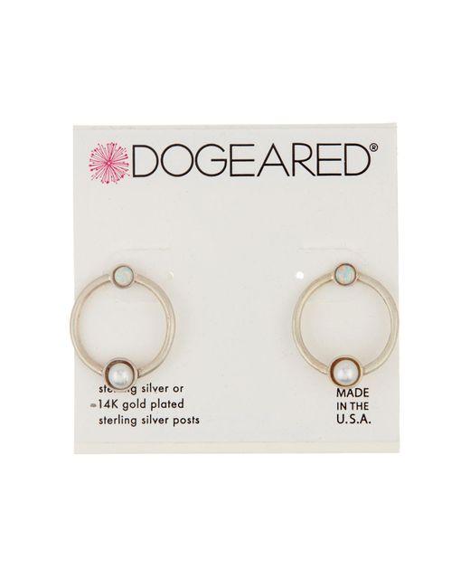 Dogeared - Metallic Sterling Silver Playing It By Ear Open Earrings - Lyst