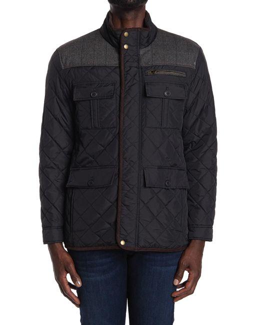 Cole Haan Black Quilted Utility Pocket Jacket for men