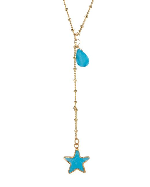A.V. Max - Metallic Turquoise Star Charm Y-necklace - Lyst