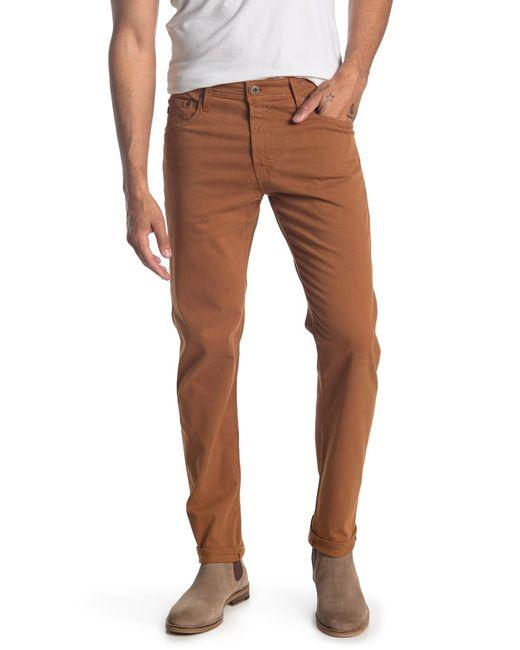 AG Jeans Brown Tellis Slim Jeans for men