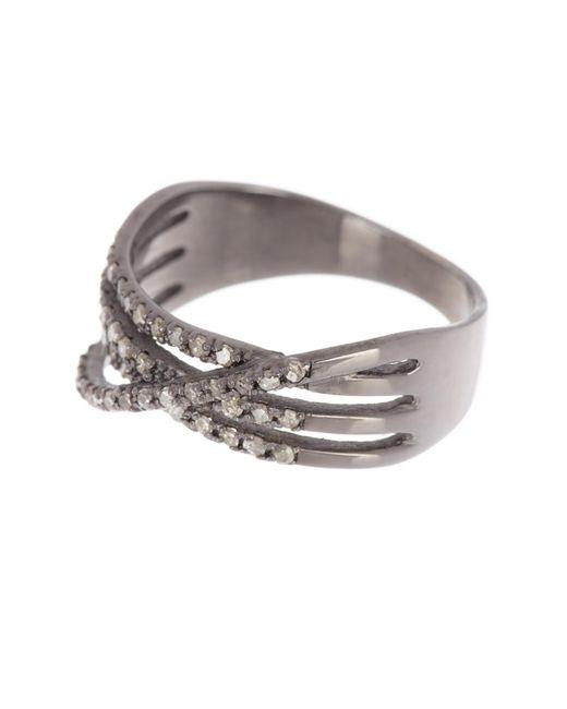 Adornia Metallic Multi Band Diamond Ring - 0.40 Ctw